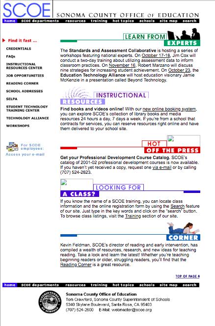 Early SCOE Webpage