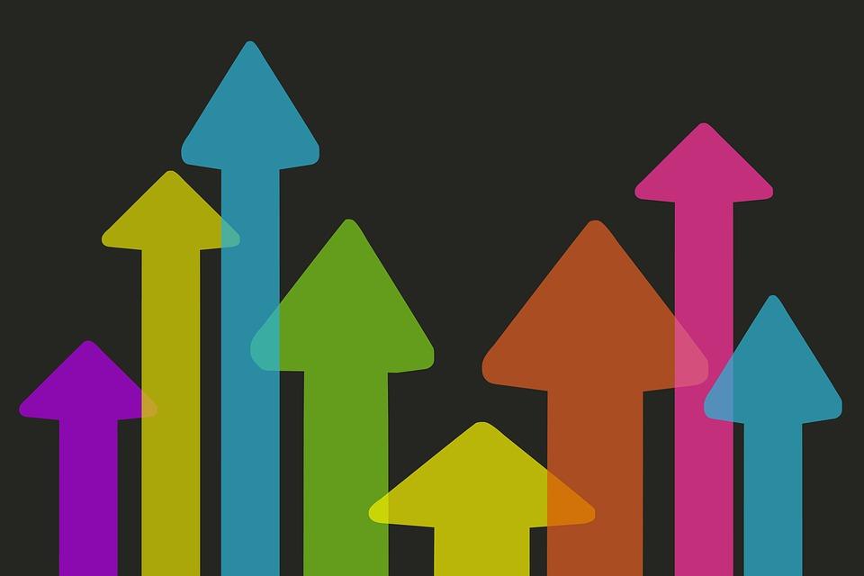 Arrows pointing upward