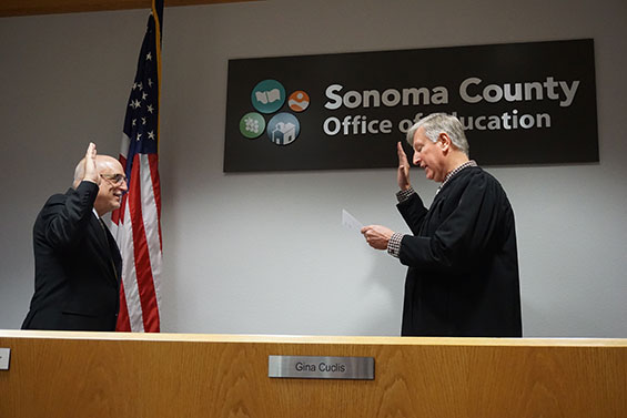 Steve Herrington Takes the Oath of Office with Judge Andy Wick