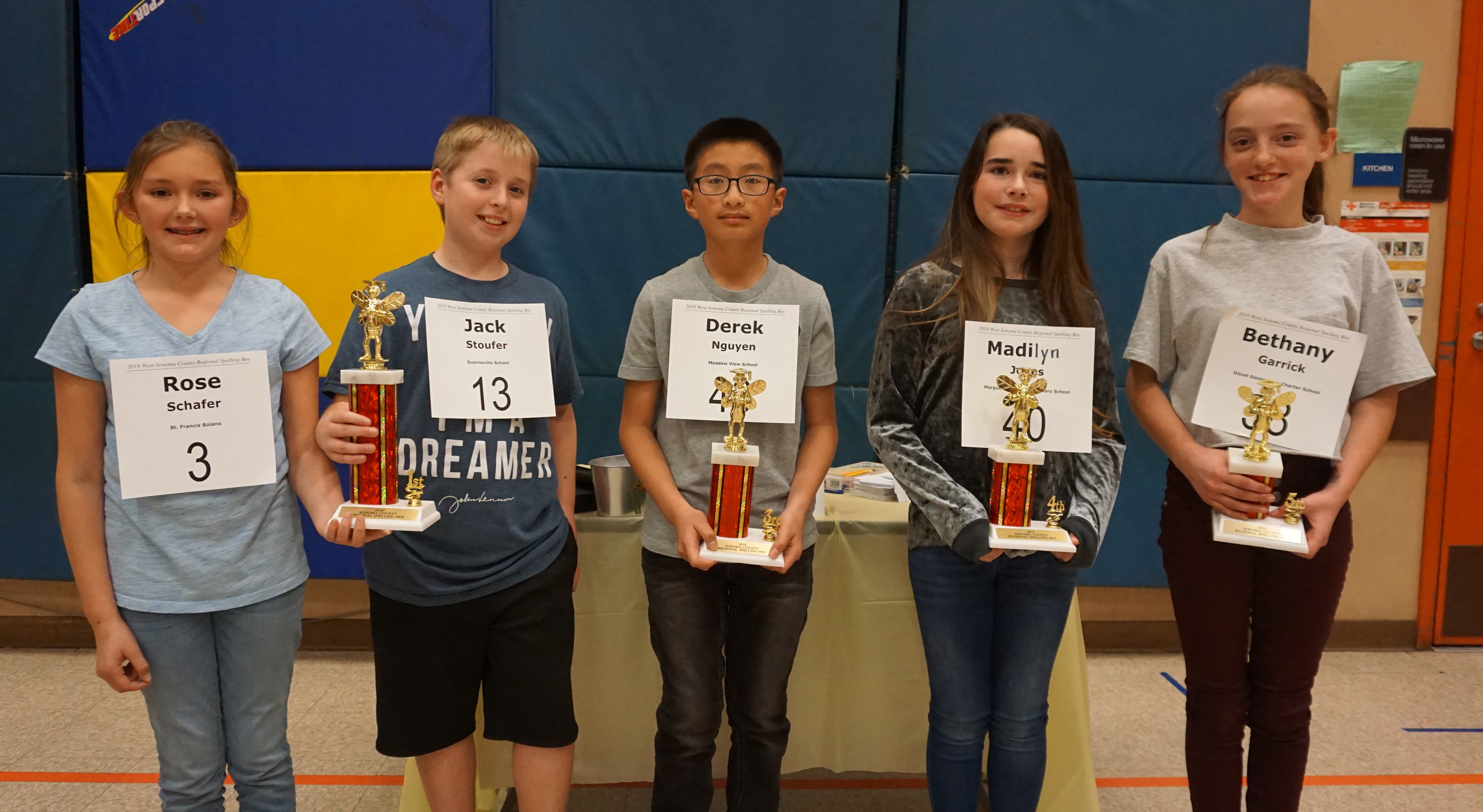 West County Spelling Bee Winners 2018