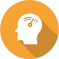 Decorative Icon: Brain with Meter