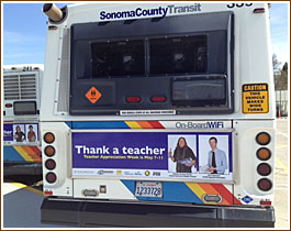 Thank a Teacher Bus Sign