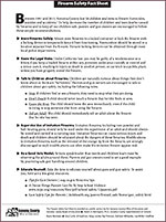 Firearms Safety Fact Sheet