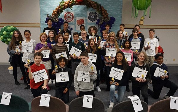 Junior High Spelling Bee Group